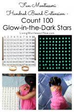 Fun Montessori Hundred Board Extension – Count 100 Glow-in-the-Dark Stars