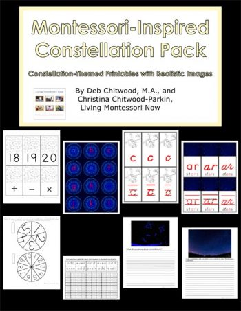 Free Star and Constellation Printables and Montessori-Inspired Constellation Activities