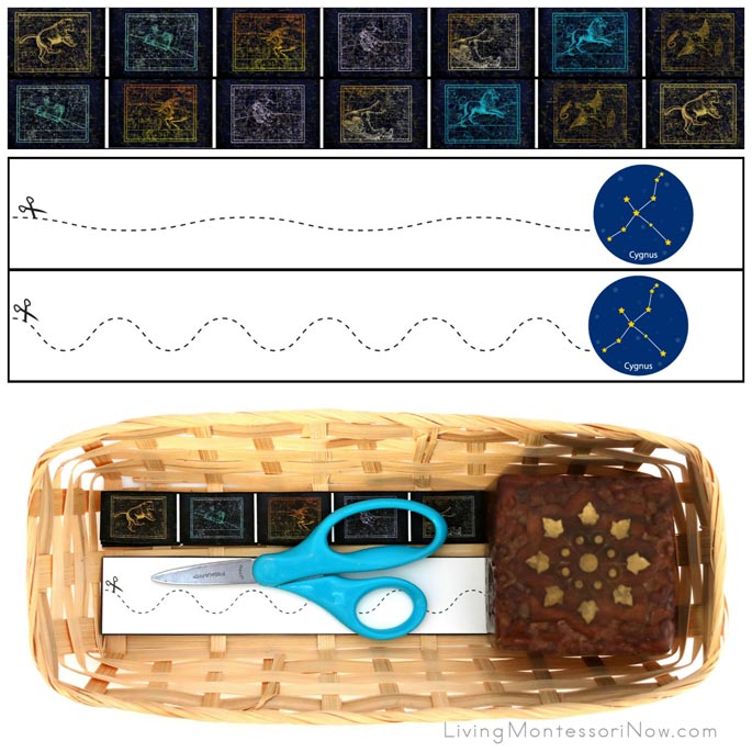 Constellation Cutting Strips with Basket