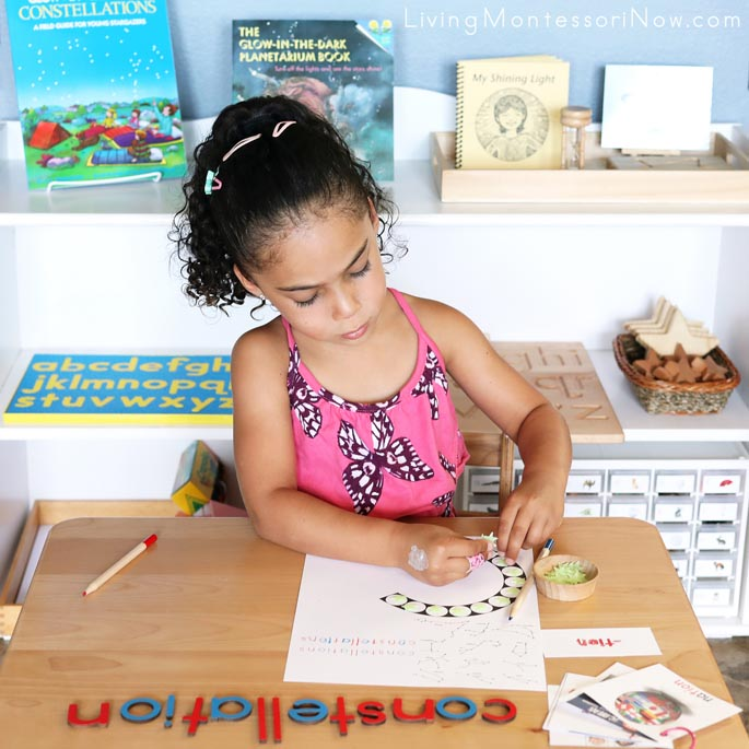 Constellation Word Building and Do-a-Dot Work with Glow-in-the-Dark Stars