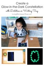 Create a Glow-in-the-Dark Constellation with Dictation or Writing Tray