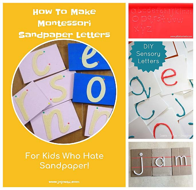 DIY Alternatives to Sandpaper Letters