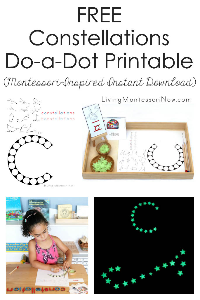 FREE Constellations Do-a-Dot Printable (Montessori-Inspired Instant Download)