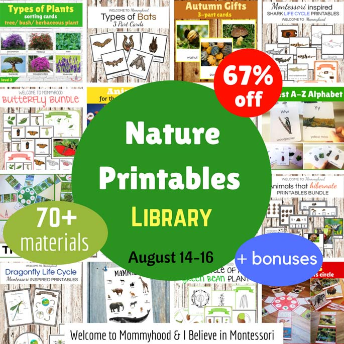 Nature Printables Library 67% off through August 16 only!