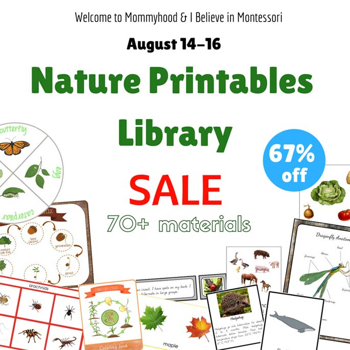Nature Printables Library Sale 67% Off through August 16