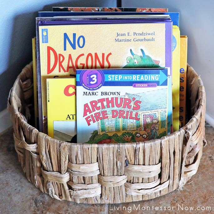 Book Basket with Fire Safety Fiction Books