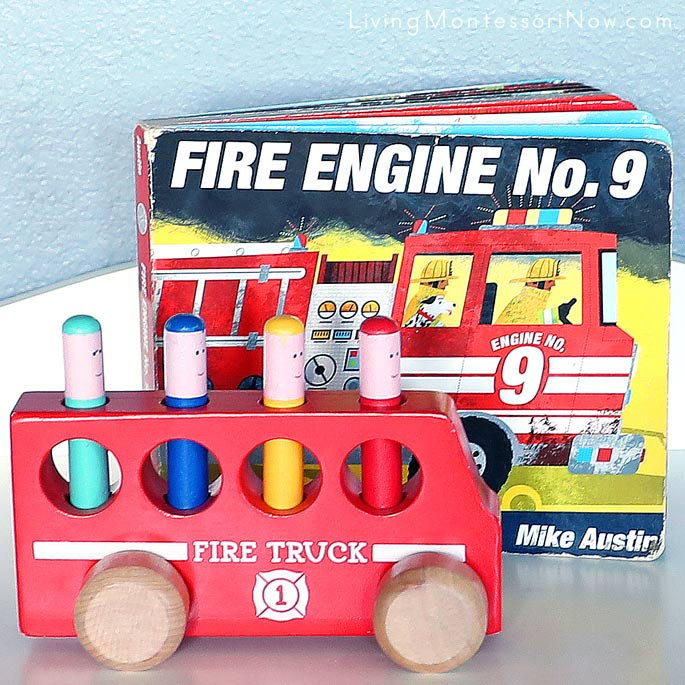 Fire Engine No 9 Book with Pop up Fire Truck