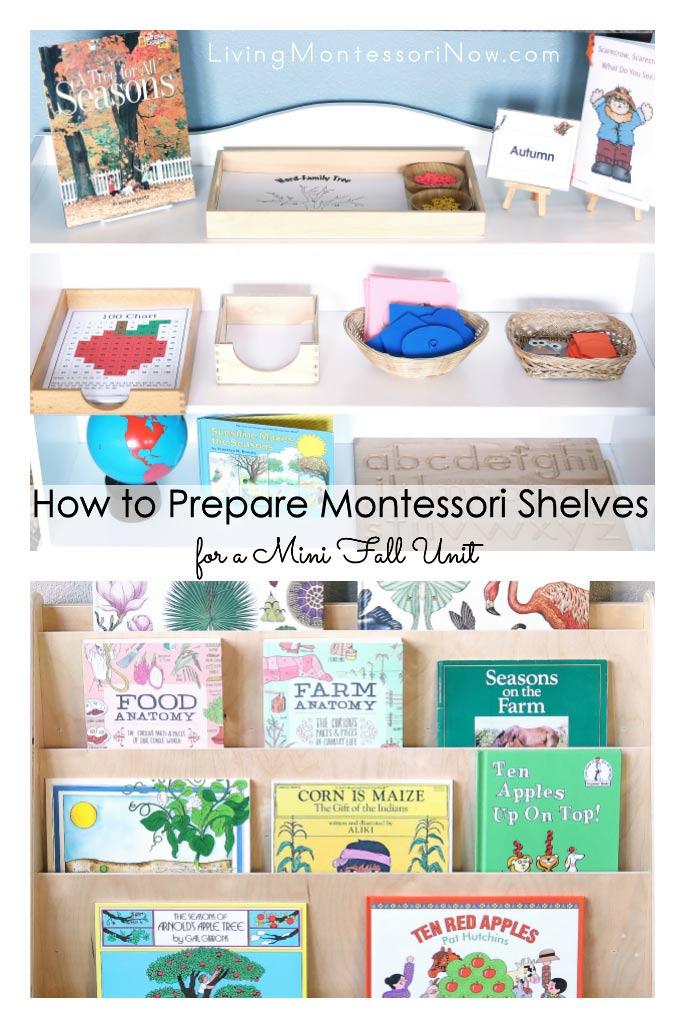 How to Prepare Montessori Shelves fora Mini Fall Unit