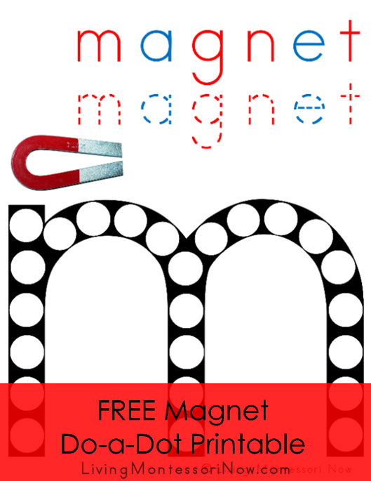FREE Magnet Do-a-Dot Printable (Montessori-Inspired Instant Download