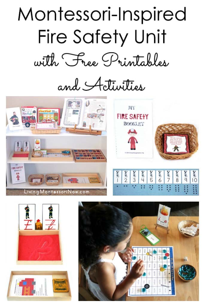 Montessori-Inspired Fire Safety Unit with Free Printables and Activities
