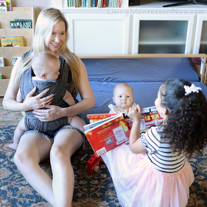 Sharing a Montessori-Friendly Fire-Safety Book with Babies