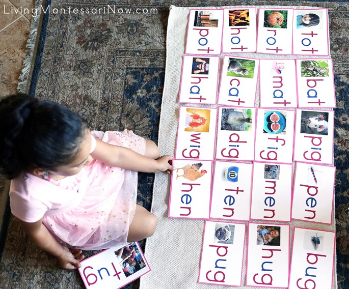 Using Pink Series Cards from Every Star Is Different to Sort Word Families