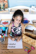 Easy, Colorful Chalk Marker Leaves for Any Climate