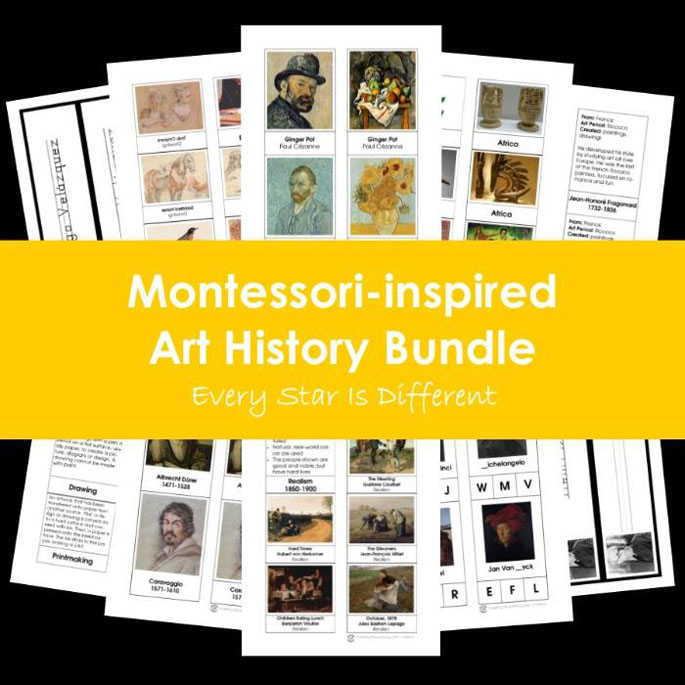 Every Star Is Different Montessori-Inspired Art History Bundle