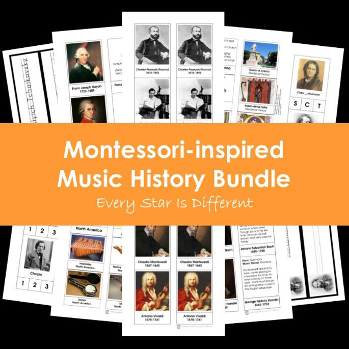 Every Star Is Different Montessori-Inspired Music History Bundle
