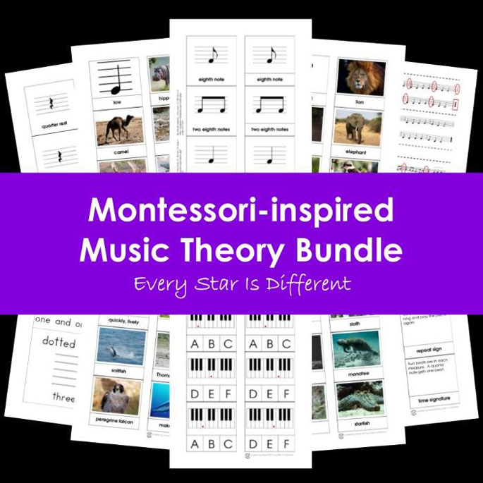 Every Star Is Different Montessori-Inspired Music Theory Bundle