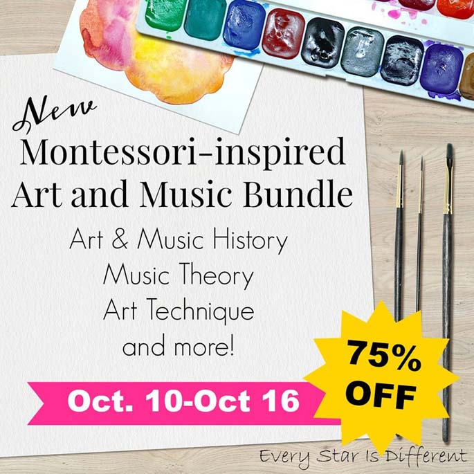 New Montessori-Inspired Art and Music Bundle 75% off Through October 16!