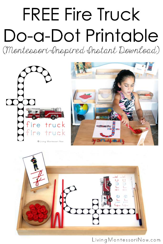 Free Fire Truck Do-a-Dot Printable (Montessori-Inspired Instant Download)