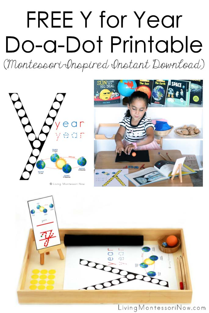 FREE Y for Year Do-a-Dot Printable (Montessori-Inspired Instant Download)