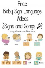 Free Baby Sign Language Videos {Signs and Songs}