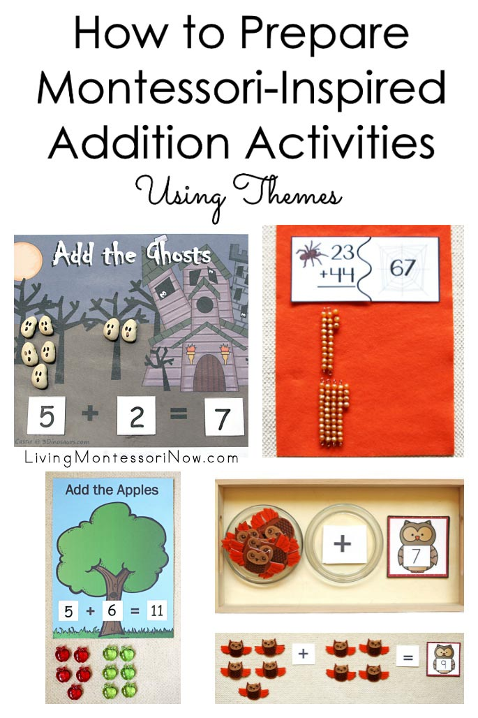 How to Prepare Montessori-Inspired Addition Activities Using Themes - Fall Themes