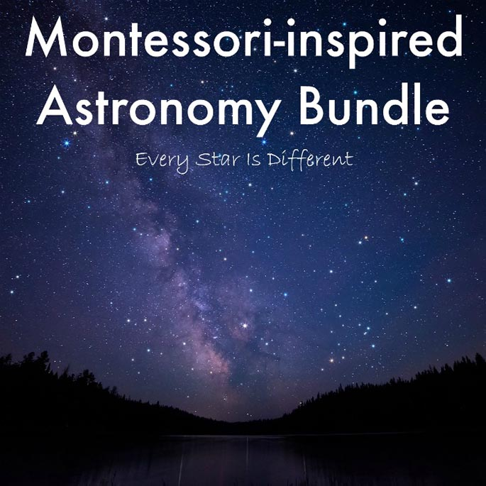 Montessori-Inspired Astronomy Bundle from Every Star Is Different