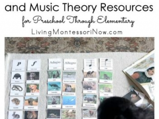 Montessori Music History and Music Theory Resources for Preschool Through Elementary