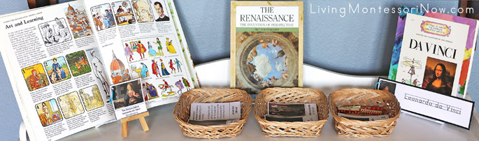 Montessori Shelf with Renaissance Art History Materials