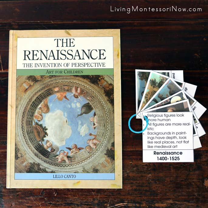 The Renaissance Book with Sorting Art by Time Period (Renaissance Only) Cards Made into a Booklet