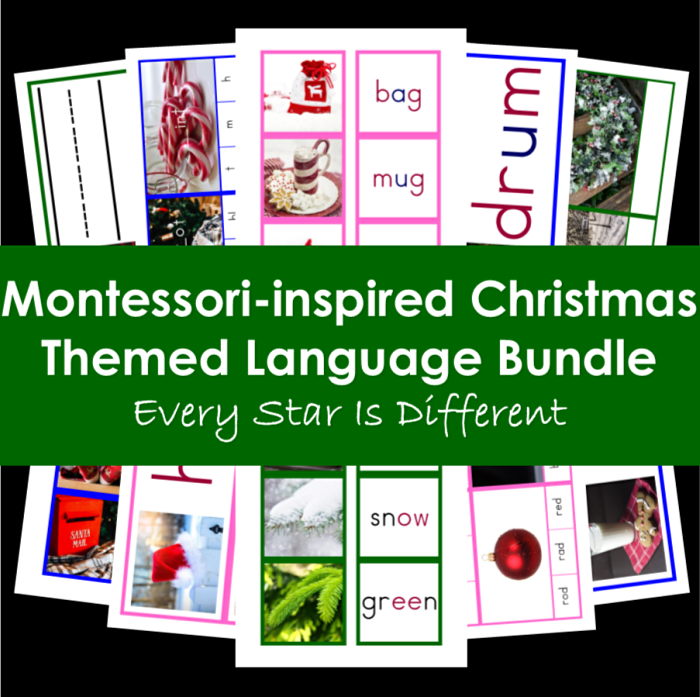 Every Star Is Different Montessori-Inspired Christmas Themed Language Bundle