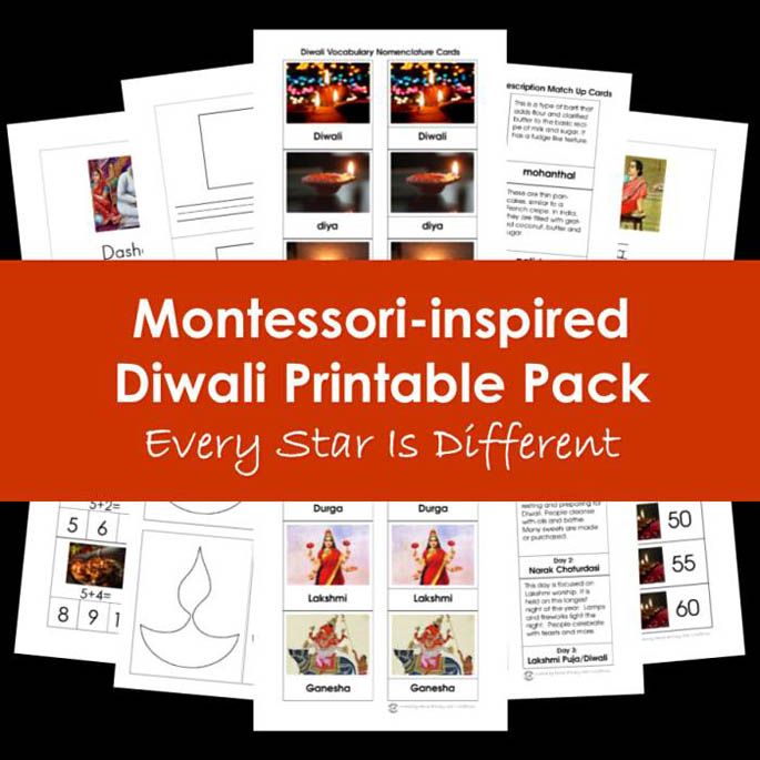 Every Star Is Different Montessori-Inspired Diwali Printable Pack