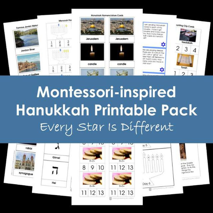 Every Star Is Different Montessori-Inspired Hanukkah Printable Pack