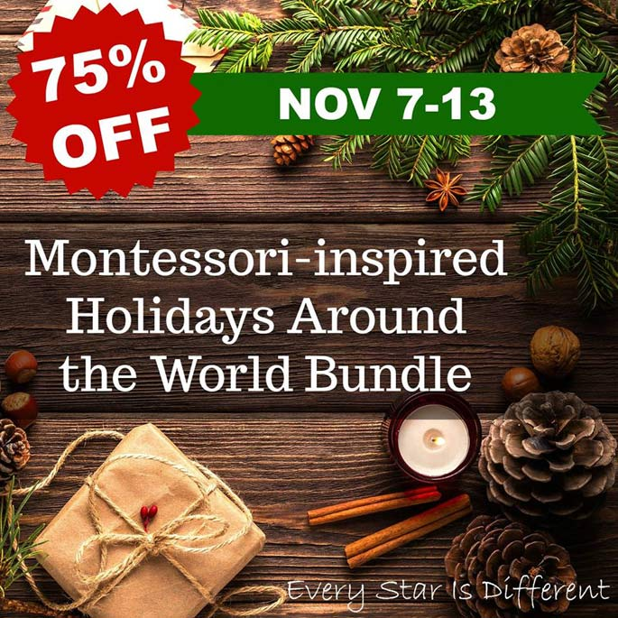 Every Star Is Different Montessori-Inspired Holidays Around the World Bundle
