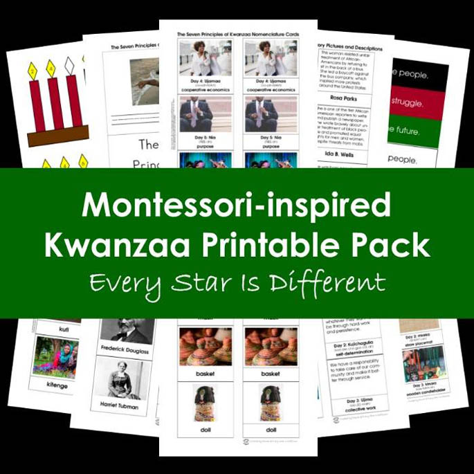 Every Star Is Different Montessori-Inspired Kwanzaa Printable Pack