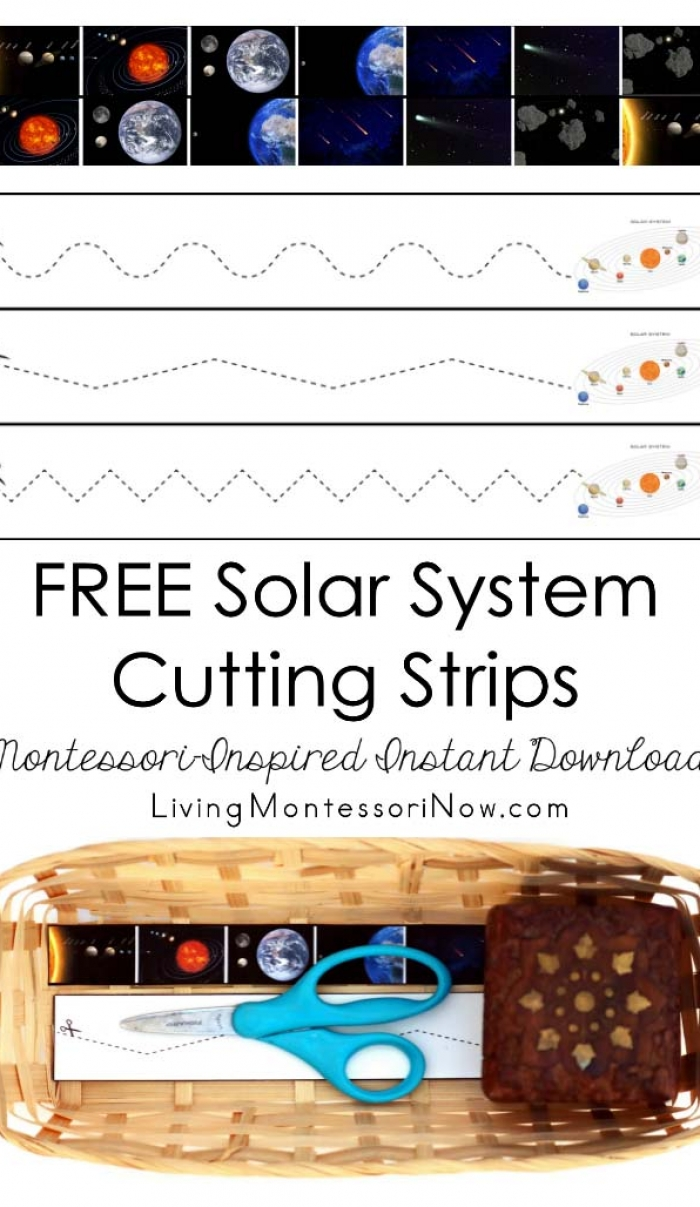 FREE Solar System Cutting Strips (Montessori-Inspired Instant Download)