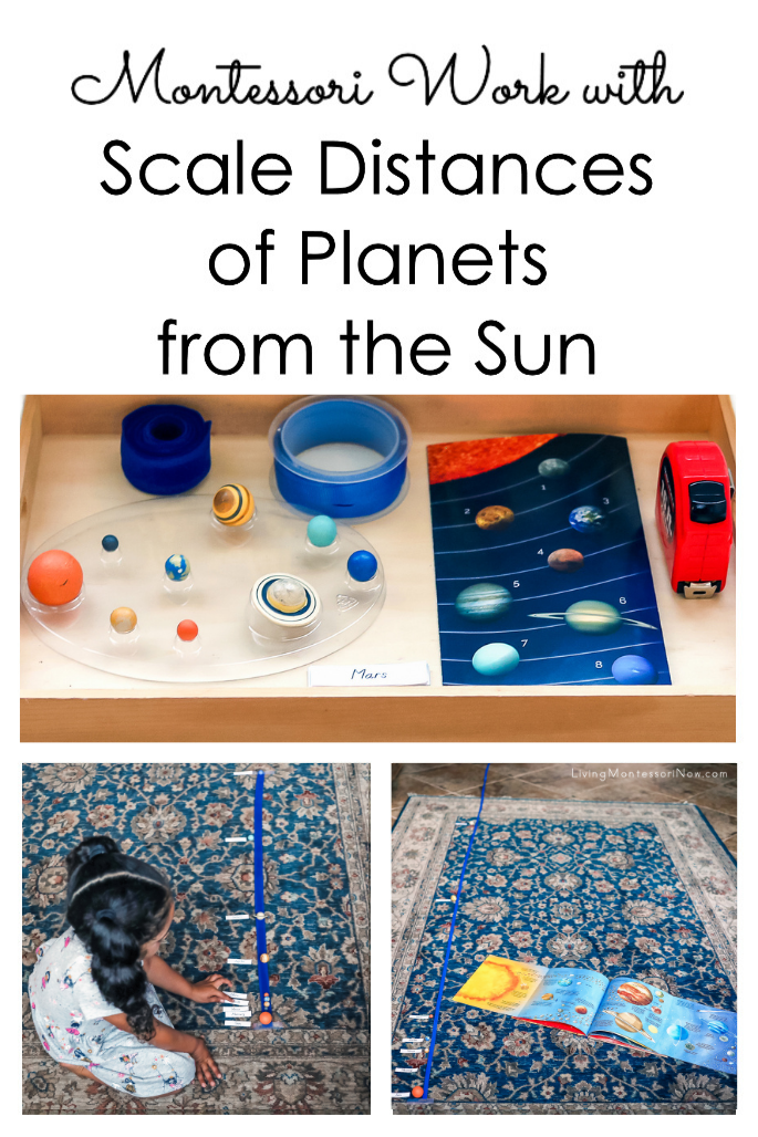 Montessori Work with Scale Distances of Planets from the Sun