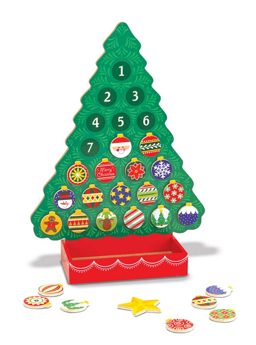 Melissa and Doug Countdown to Christmas Wooden Advent Calendar with 25 Magnets