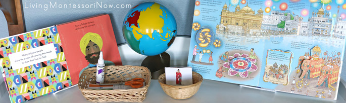 Montessori Shelf with Diwali Books and Activities