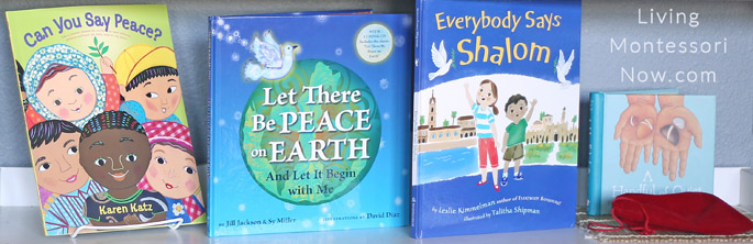 Montessori Shelf with Peace Books