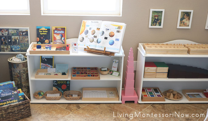 Montessori Shelves for a 5 Year Old
