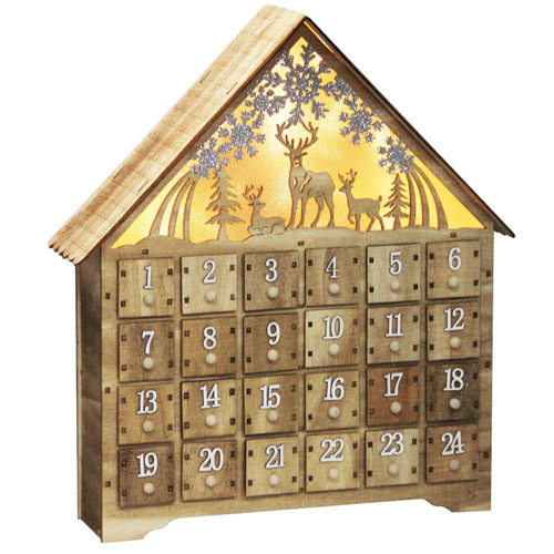 SAND MINE Countdown to Christmas Wooden Advent Calendar (24 Drawers)