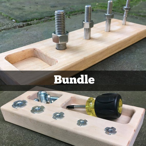 Screwdriver Board + Nuts and Bolts Bundle from MOMtessori Life on Etsy