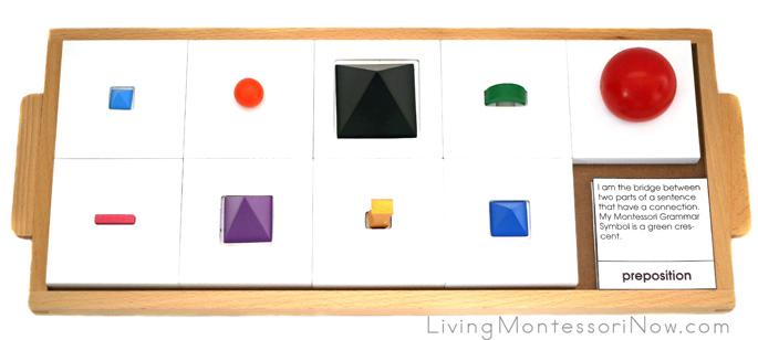 3D Grammar Symbols Tray with Montessori Grammar Symbol Descriptions