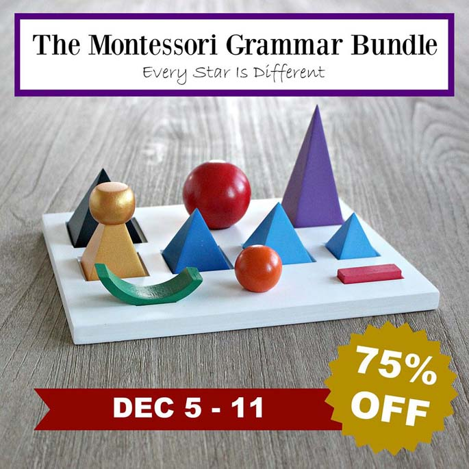 Montessori Grammar Bundle 75% off through Dec 11!