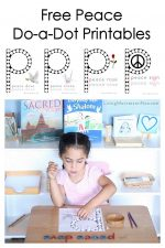 FREE Peace Do-a-Dot Printables (Montessori-Inspired Instant Download)