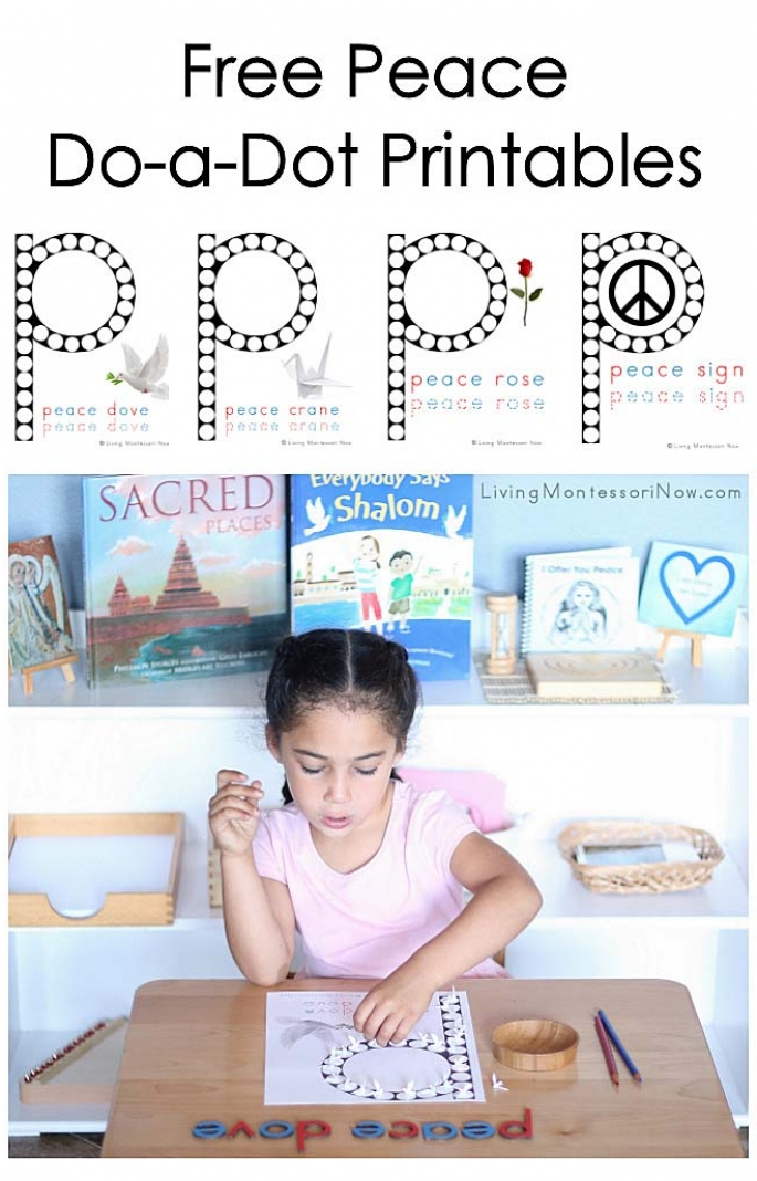 Free Peace Do-a-Dot Printables