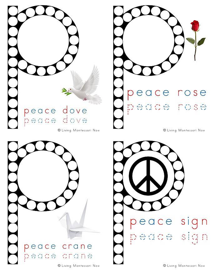 Free Peace Do-a-Dot Printables