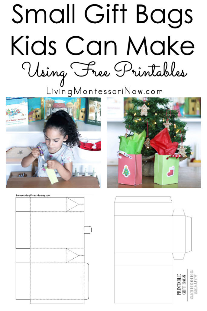 image regarding Printable Gift Bags identified as Reduced Present Baggage Little ones Can Crank out Taking Absolutely free Printables - Dwelling
