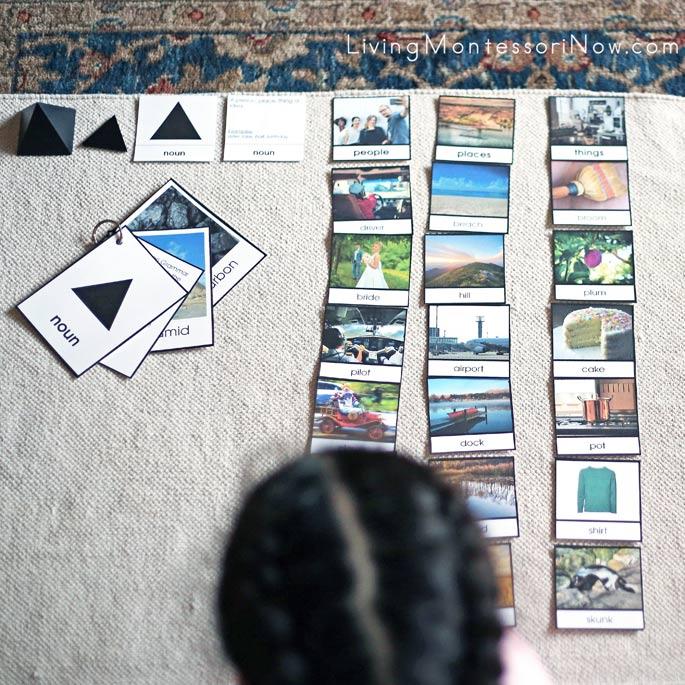 Work with Montessori Noun Materials