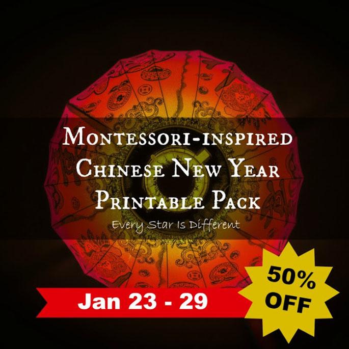 Montessori-Inspired Chinese New Year Printable Pack 50% Off Jan 23-29!